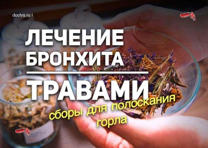 Лечение бронхита травами