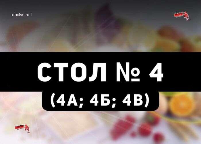 Диета № 4