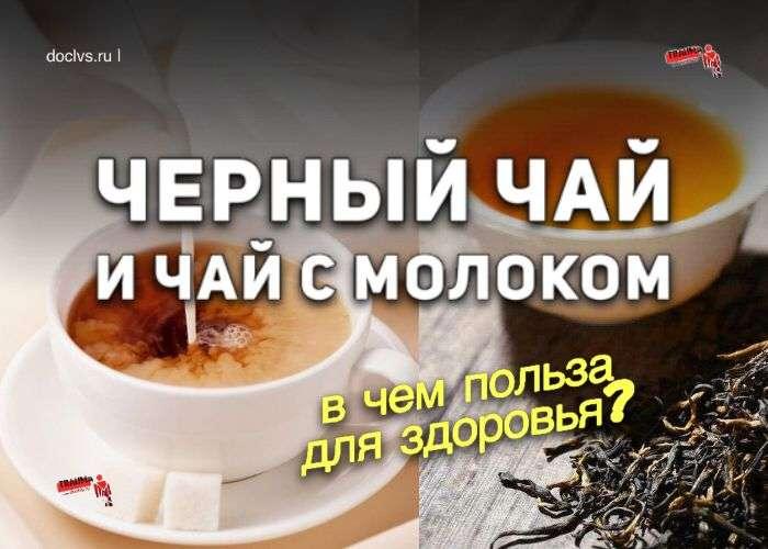 черный чай и чай с молоком в чем польза для здоровья