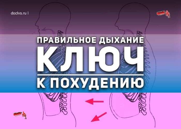 Правила дыхания для похудения