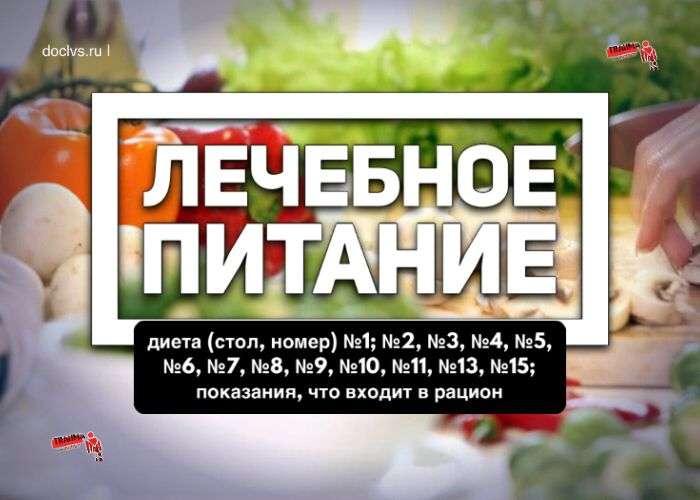 Лечебное питание: диета (стол, номер)