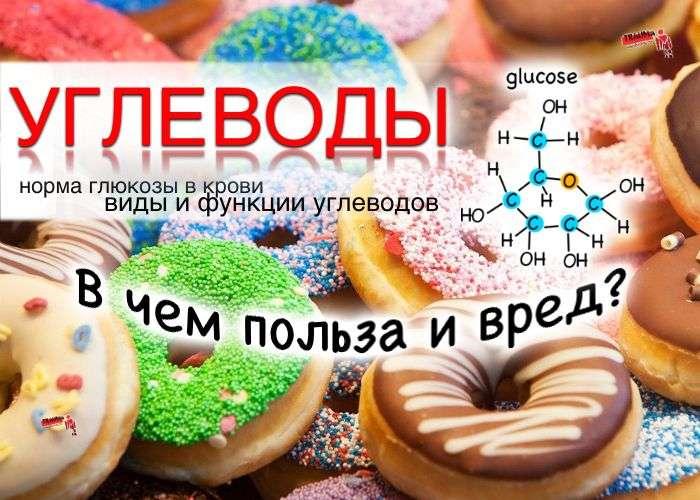 Углеводы - норма глюкозы в крови, виды и функции углеводов, польза и вред