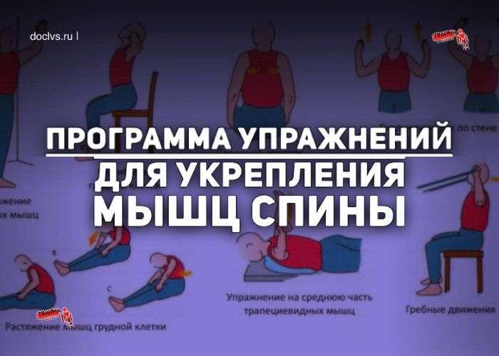 Программа ЛФК для спины