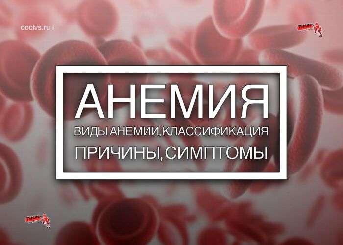анемия классификация