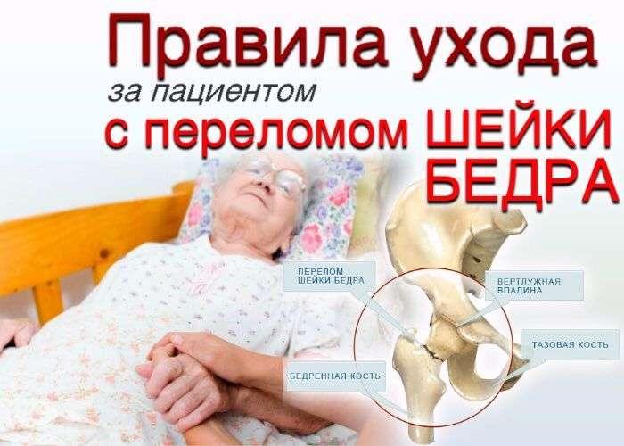 Лежачий больной с переломом шейки бедра в домашних условиях 770